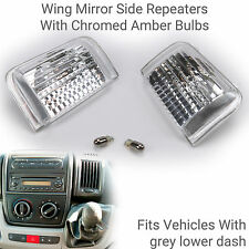 Genuine Fiat Ducato Wing Mirror Side Repeaters with Chrome Bulbs  Fits 2006-2011