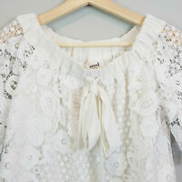 SEED HERITAGE | Womens Off Shoulder Lace Top [ Size AU 8 or US 4 ]
