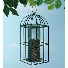 Wild Bird Attraction Seed Feeder Metal Birdfeeder Cage with Squirrel Guard New