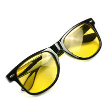Unisex HD Sunglasses Driver Night Vision Driving Glasses Yellow Lens Anti Glare