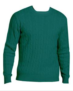 M&S Marks & Spencer Men Pure Cotton Crew Neck Jumper Dark Green Medium BNWT