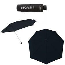 Compacto Storm Paraguas En Negro-Resistente Al Viento / a prueba de viento a 80 km/h-Nuevo
