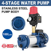 High Pressure Garden Water Pump Multi Stage Irrigation Garden Pump 88M Tank