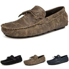 Mens Pumps Slip on Loafers Soft Comfy Breathable Retro Driving Moccasins Shoes L