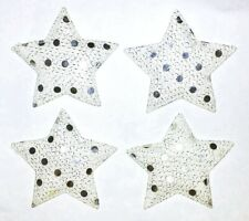 4Pc Star Patch Sew Glue On Padded Sequin Applique Crafts Cards Scrapbooks Bows