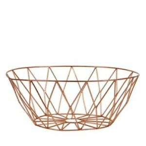 BLOOMINGVILLE Copper wire basket 10""