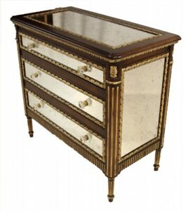 Beautiful EJ Victor by Julia Gray Mirrored Dresser/Commode - Orig. receipt $7500
