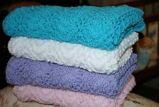 Pram/Cot Hand Knitted Baby Shawl/Blanket .Generouis size. PICK UP UR COLOUR