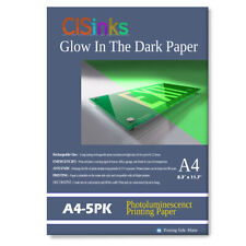 """CISinks A4 Glow In The Dark Luminescent Afterglow Photo Paper 8.3"""" x 11.7"""" 5 Pk"""