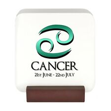 Cancer Zodiac Starsign Design 4 Drinks Coasters Set with Stand star sign NEW