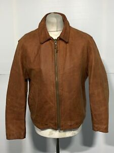 VINTAGE 80's RED CLOUD DISTRESSED NAPPA LEATHER MOTORCYCLE JACKET SIZE UK L