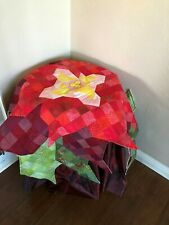 """Quilt Decorative Star Multi color Cotton 40"""" X 45"""" NWNT Table Topper Throw"""