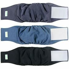 Washable Dog Diapers - Washable Male Dog Belly Wrap - Pack of 3