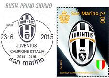 Busta Primo giorno con annullo speciale JUVENTUS Campione 2014/2015 San Marino