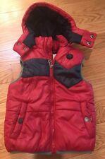 Diesel Boys Kids Children Vest With Detachable Hood Size 5. Gorgeous! Red / Blue