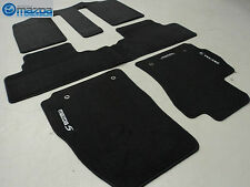 MAZDA 5 2012-2015 NEW OEM FRONT AND REAR CHARCOAL BLACK FLOOR MATS SET OF FOUR