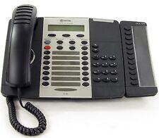 Mitel 5220 VOIP Phone W/ 5412 PKM & 5422 PKM Module Dark Grey Office Phone