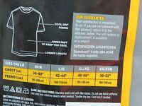 Mens Hanes Professional Grade Cool Dri Crew Neck Gray T- Shirt Tee Size 2XL