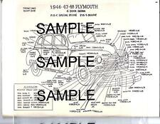 1952 DODGE D-41 D-42 2-4 DR SEDAN 52 (51) EXTERIOR BODY PARTS DIAGRAM SHEETS WM