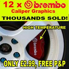 12 X Freno Brembo Pinza Autoadhesivos, Stickers, gráficos!!!
