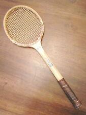 Racchetta da tennis fatta a mano CASTLE SQUIRREL legno rara STORICA introvabile