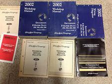 2002 FORD TRUCK DIESEL Excursion F-250 350 450 550 Service Shop Manual Set W EWD
