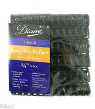 "Diane 2118 3/4"" BLACK SNAP ON HAIR ROLLER 12-PACK"