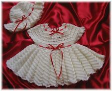 "CROCHET PATTERN for ""KATIEBELLE"" Baby Dress & Hat  by REBECCA LEIGH--6/9M-12/18M"