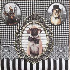 2 single paper napkins Servietten Scrapbooking Decoupage Collection Dogs Hunde