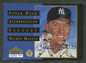 Mickey Mantle Signed 1994 Upper Deck Authenticated Saluted Postcard AUTO /5000