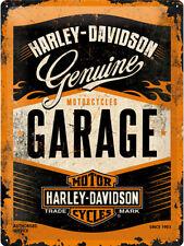 Harley Davidson Garage - 3d Metal Wall Sign. Size 30cm by 40cm