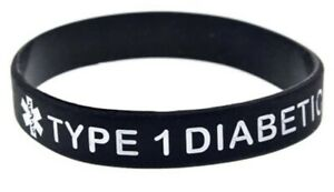 "DIABETES DIABETIKER MEDIZINISCHES NOTFALLARMBAND ""DIABETIC TYP1""INSULINPFLICHTIG"