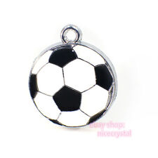 5pcs soccer Hang Pendant Charms Fit Pet Collar and necklace phone strips-2