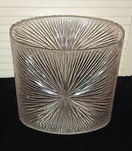 VTG Celebrity Inc MCM Waste Basket Trash Can Plastic  Starburst Sunburst Lucite