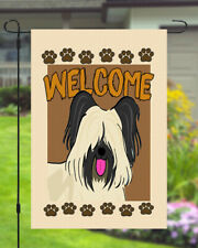 Skye Terrier Welcome Dog Garden Banner Flag 11x14 to 12x18 Pet Yard Decor