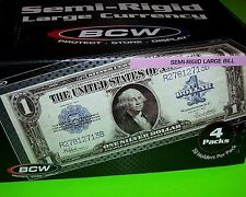 200 SEMI-RIGID CURRENCY HOLDER - LARGE BILL, 9 MIL, HOLDS U.S. & OTHER CURRENCY