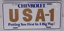 CHEVROLET USA-1 GOLD WHITE & BLUE PUTTING YOU FIRST IN A BIG WAY MADE  USA NOVA