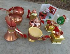Vintage Lot Of 9 Christmas Ornaments Mid Century Kitchen Wares + More