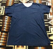 Apolis Indigo T Shirt L V Neck