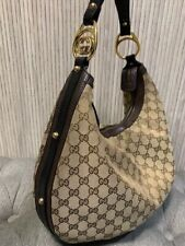 Authentic Gucci Beige Interlocking Hobo GG Canvas Shoulder Bag 223952-213048