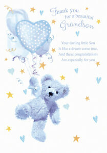 THANK YOU FOR A BEAUTIFUL GRANDSON CARD ~ QUALITY CARD & BEAUTIFUL VERSE