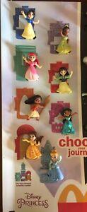 2021 Disney Princess McDonald's Happy Meal Display Toys Complete Set No Display
