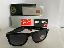 Ray-Ban Justin RB4165 Sunglasses Black 601/8G Grey Gradient 55mm