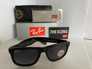 Ray-Ban Justin RB4165 Sunglasses Black 601/8G Grey Gradient 55mm