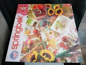 Puzzle Springbok 1500 Pieces Garden Beginnings *NEW* **Fast Ship**