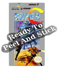 Contra Super C Nes Cartridge Replacement Game Label Sticker Precut