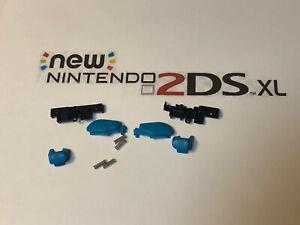 R Z L Z Nintendo New 2DS XL Blue Buttons Replacement Repair Part + Springs Set