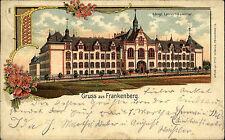 Frankenberg Sachsen Litho-AK um 1900 Königliches Lehrer-Seminar Schule Bahnpost