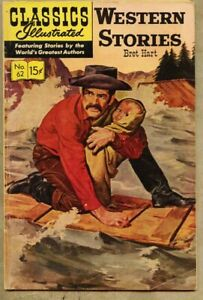 Classics Illustrated #62-1964 vg+ 4.5 7th edition Bret Hart Western Stories