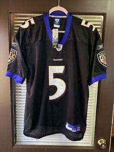 Vintage Baltimore Ravens Joe Flacco #5 NFL Reebok Jersey Stitched Sewn Lewis Vtg